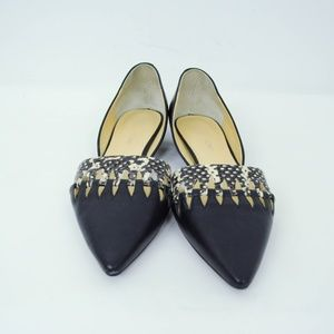 Ivanka Trump Shoes - Ivanka Trump Pointed Toe D'Orsay Cutout Flats